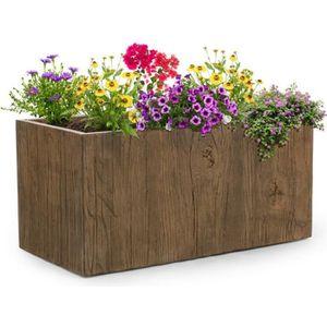 JARDINIÈRE - BAC A FLEUR Blumfeldt Timberflor - Pot de fleurs jardinière -
