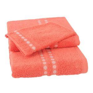 PARURE DE BAIN JULES CLARYSSE Lot de 1 serviette + 1 drap de bain