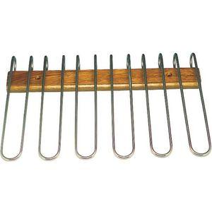 PORTE-VERRE Rack à verres 5 range en bois-acier inoxydable D 4