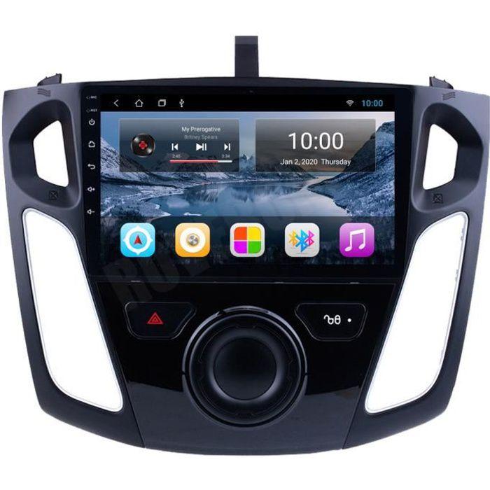 RoverOne Autoradio GPS Bluetooth pour Ford Focus 3 2012 2013 2014 2015 Android Stéréo Navigation Écran Tactile
