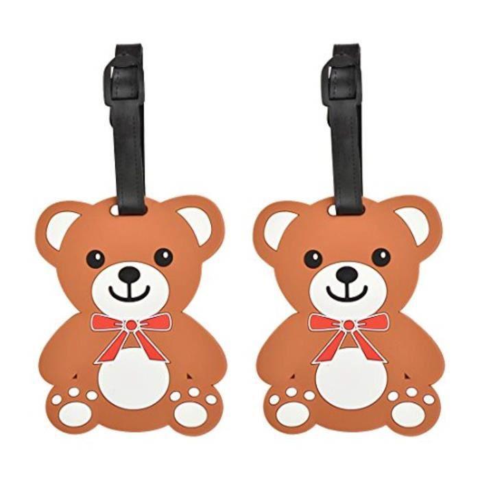 Bracelet De Montre Vendu Seul L7U4Z Animaux Etiquettes de bagages étiquettes Valise mignon (Set of 2) (