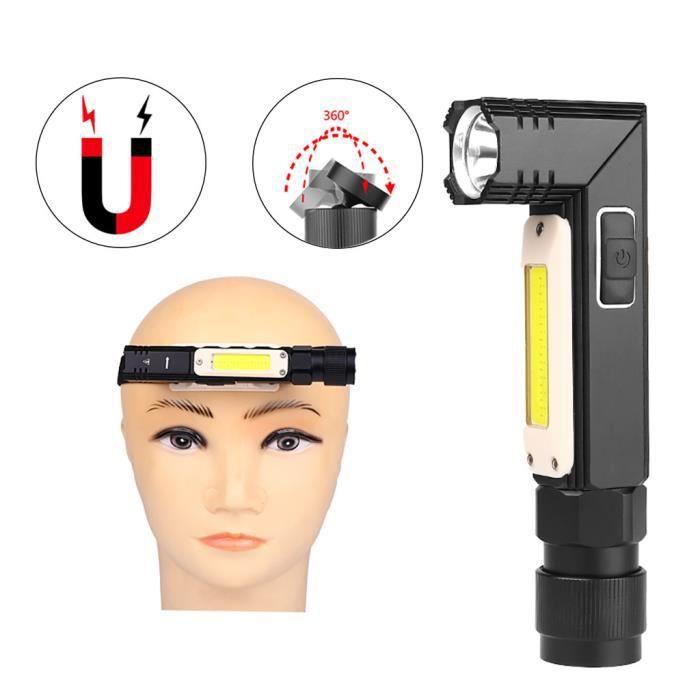 LAMPE ELECTRIQUE Lampe de travail multifonction COB Q5 LED ajuster la lampe de poche USB rechargeable Fu770