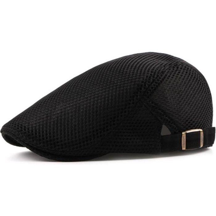 Hommes Casquette plate Duckbill Beret Ivy Gatsby Buveur Conducteur Cabbie Casquette Chapeau De Chasse Noir