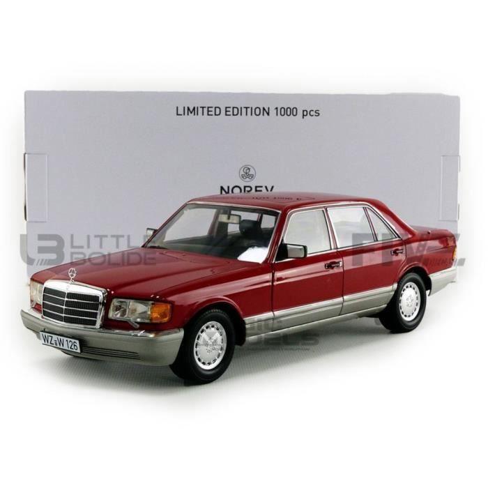 Voiture Miniature de Collection - NOREV 1/18 - MERCEDES-BENZ 560 SEL - 1991 - Red - 183463