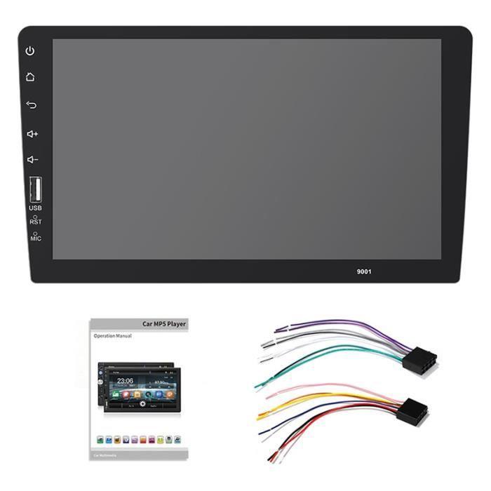2 Din autoradio 9 pouces pleine presse miroir lien voiture lecteur stéréo voiture lecteur multimédia Mp5 Bluetooth Usb - Type Black