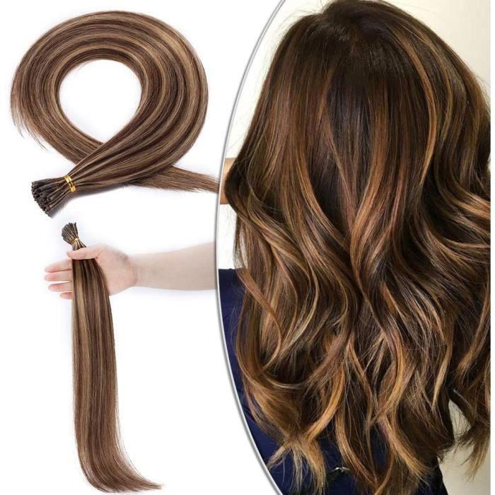 Extensions de cheveux et perruques et accessoires Extension Cheveux Naturel Rajout Pose a Froid Pre Bonded I Tip - 100 M 250727