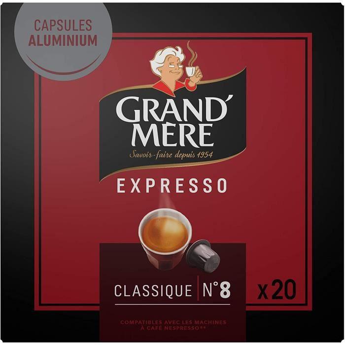 Grand Mère Café - 200 Capsules Expresso Classique Intensité 8 - compatibles Nespresso®* (lot de 10 x 20)
