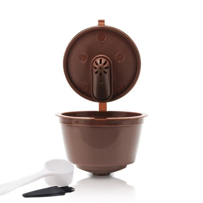 Café Filtres,Capsules de Nescafe Dolce Gusto, 3 pièces, filtres à café, paniers rechargeables, en acier inoxydable, - Type brown