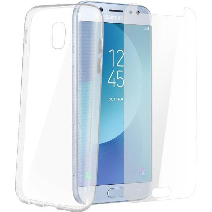 Pack de protection Coque + Film verre trempé Samsung Galaxy J7 2017