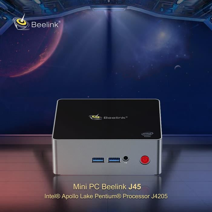 Mini PC - Beelink J45 - 8GB +128GB - Intel Apollo Lake Pentium J4205 Intel HD Graphics 505 Bi-WiFi 4 x USB3.0 BT4.0