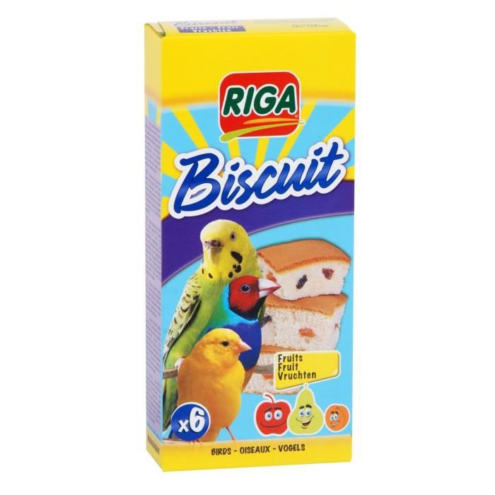 RIGA biscuits aux fruits boîte de 6 OISEAU