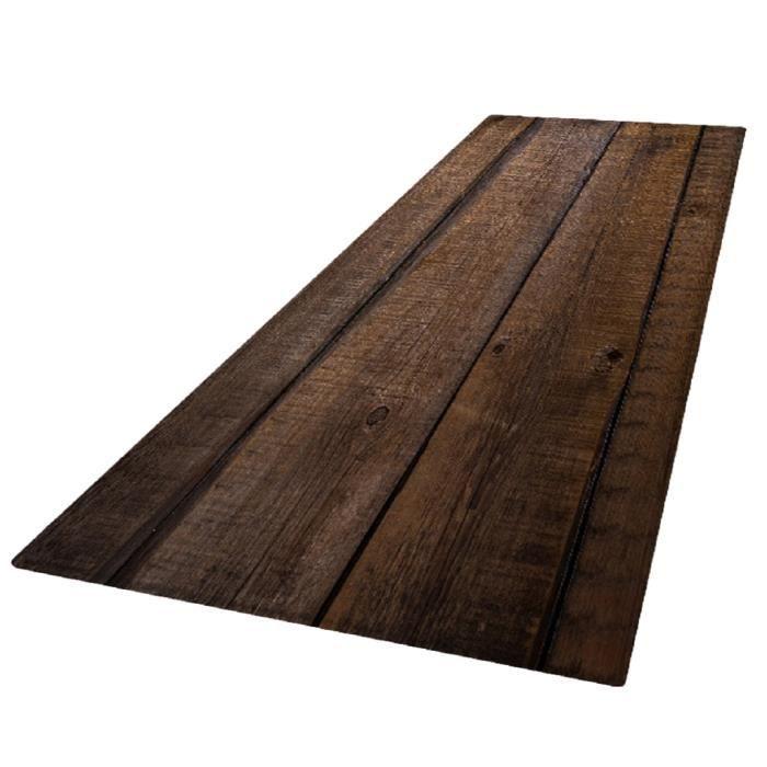 Tapis de Salon 3D de Style Nordique Tapis pour Housse de Siège Bébé Tapis de Jeu pour Enfants 180x60cm Planche de bois
