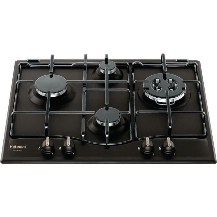 Hotpoint PCN 640 T (AN) R -HA, Intégré, Cuisinière à gaz, Émaillé, anthracite, acier émaillé, Rond