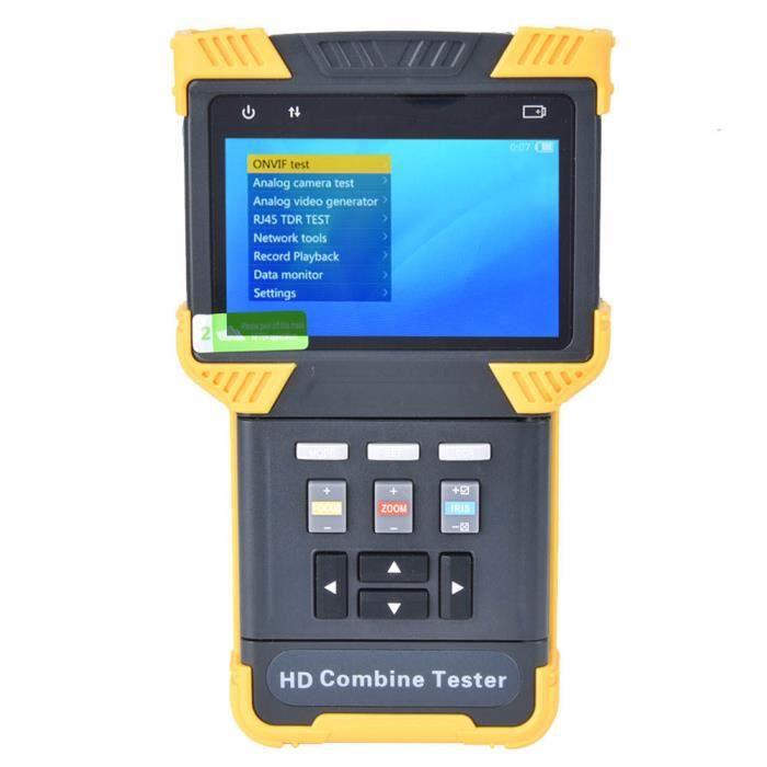 HURRISE Testeur de vidéosurveillance 1080P Digital HD Combine Tester Testeur CCTV Testeur de caméra analogique IP AC100-240V