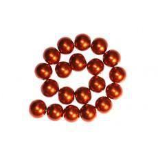 30 x Perle en Verre Nacrée 10mm Orange Brique