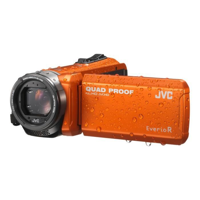 JVC GZ-R405DEU Caméscope - Etanche - Orange