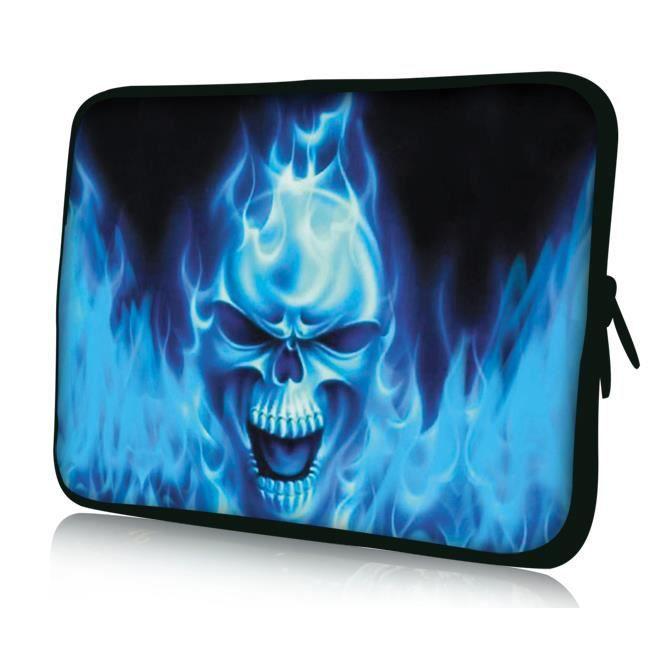 Luxburg 14 pouces Housse Sacoche Pochette pour ordinateur portable Crâne bleu