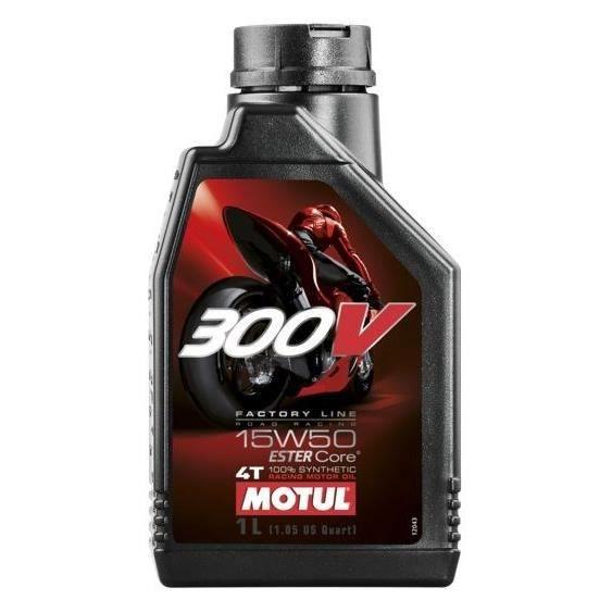 MOTUL Huile moteur 300V Factory Line Road Racing 15W50 1L