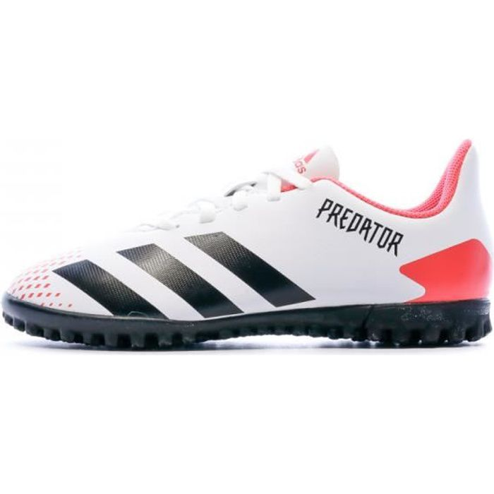 Predator 20.4 Turf Chaussures blanches garçon Adidas