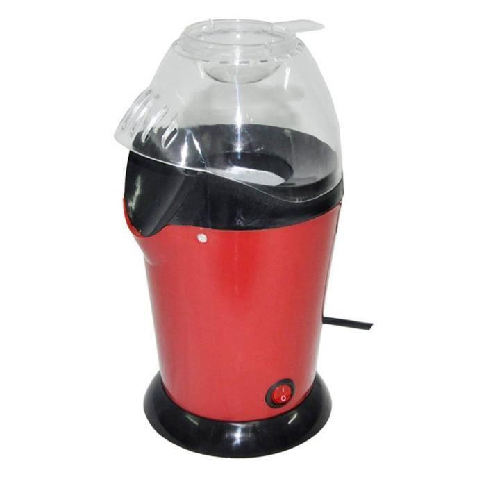 Machine à pop-corn Machine à pop-corn à Air chaud Conception de grand calibre avec tasse Mini Machine à maïs électrique prise 220V