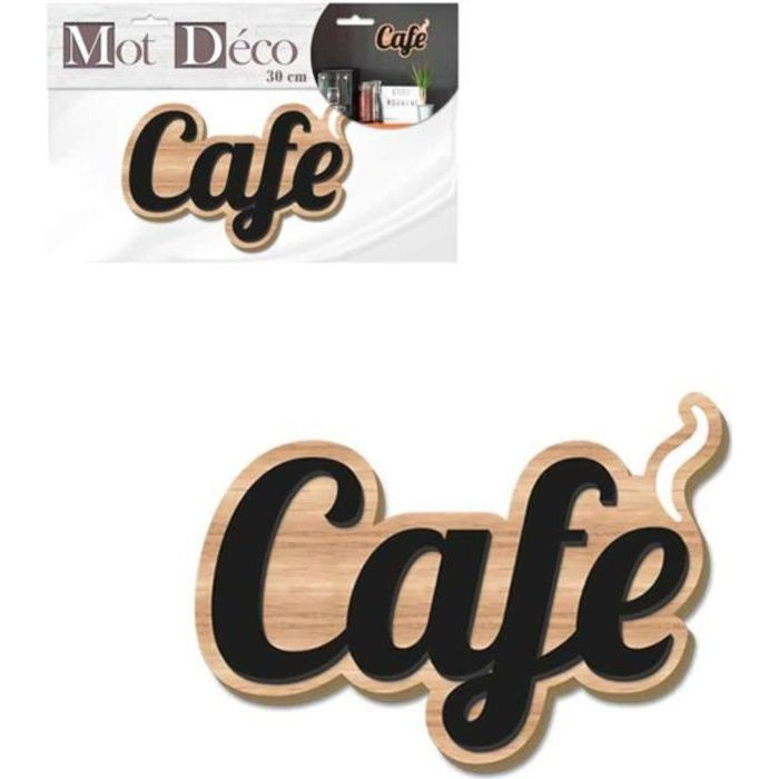 STC - Mot Décoratif 30 cm Bicolore – Café