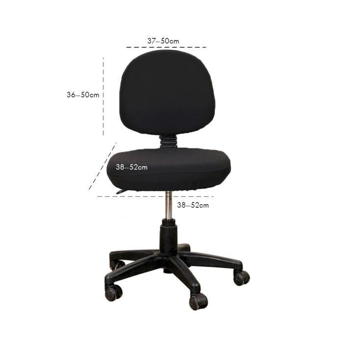 Bureau séparés Housse de Chaise, Fauteuil pivotant Fauteuil Ordin cran Executive tâche Slipcover Internet Barre arBlack Chair Cover
