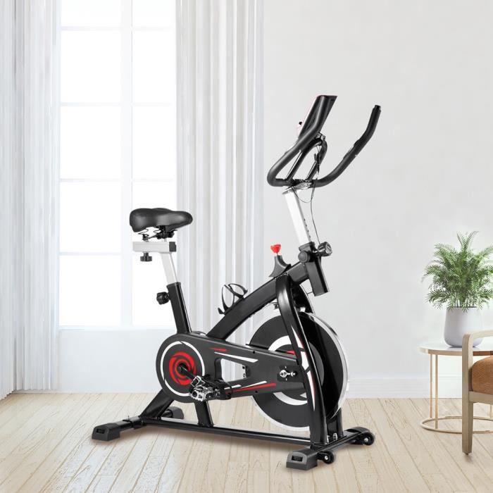Velo biking spinning interieur Vélo d'appartement Silencieux d'Exercice Cyclisme Stationnaire Maison Entraînement Gym Cardio Rouge