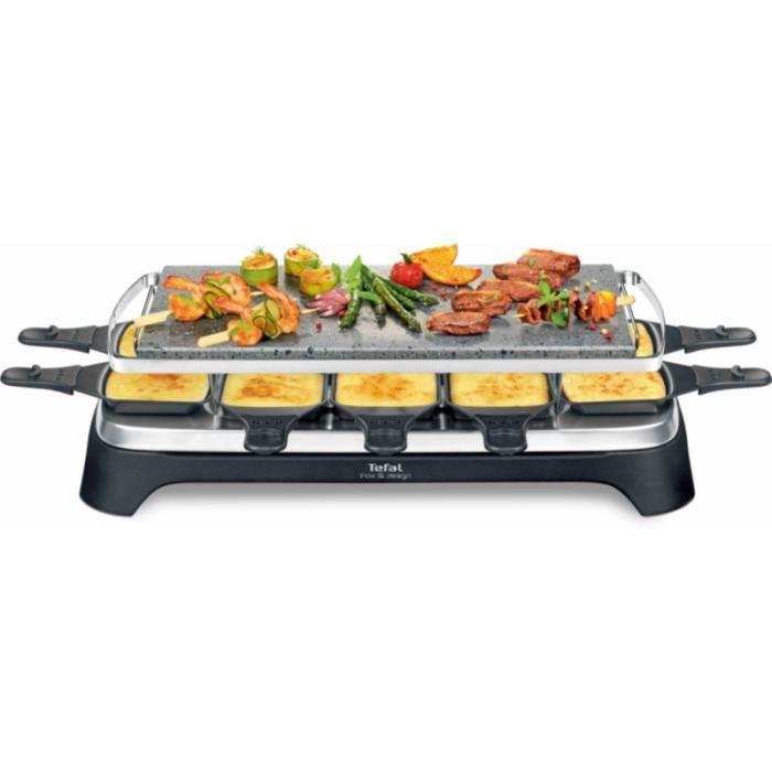 Raclette Tefal PIERRADE INOX&DESIGN PR457812 • Cuisson conviviale • Cuisine et cuisson
