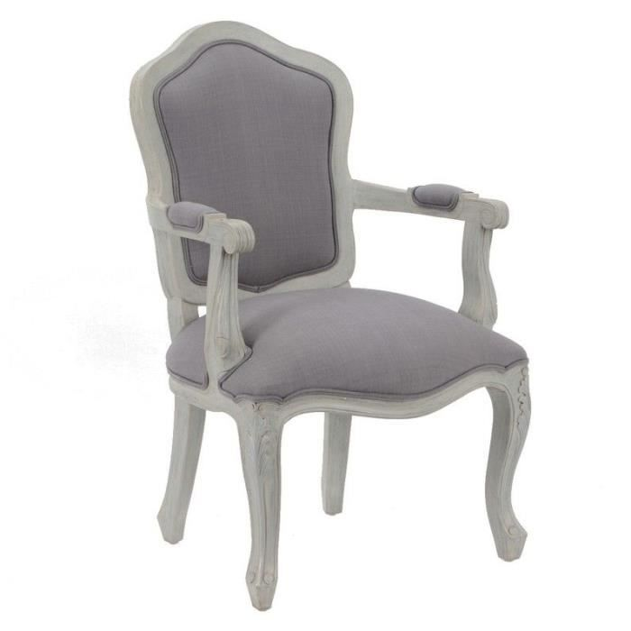 fauteuil style louis xv gris gustavien achat vente fauteuil gris cdiscount. Black Bedroom Furniture Sets. Home Design Ideas