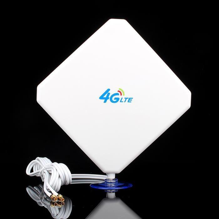 AMPLIFICATEUR DE SIGNAL 4G LTE Antenne Panneau de Gain Elevé Prise TS9