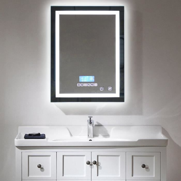 miroir lumineux salle de bain led lampe de miroir clairage 24w tanche 600x 800cm 6500k 3500k. Black Bedroom Furniture Sets. Home Design Ideas