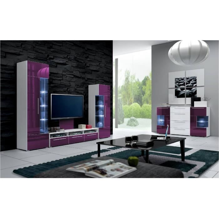 mur tv complet ref roma mauve achat vente living meuble tv mur tv complet ref roma mau. Black Bedroom Furniture Sets. Home Design Ideas