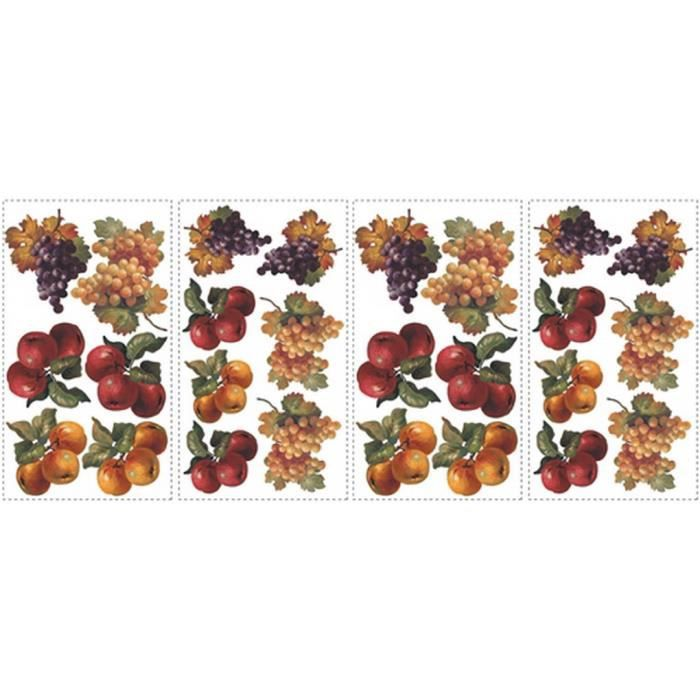 Stickers muraux adhesif mural fruits d 39 automne achat for Plaque adhesif mural