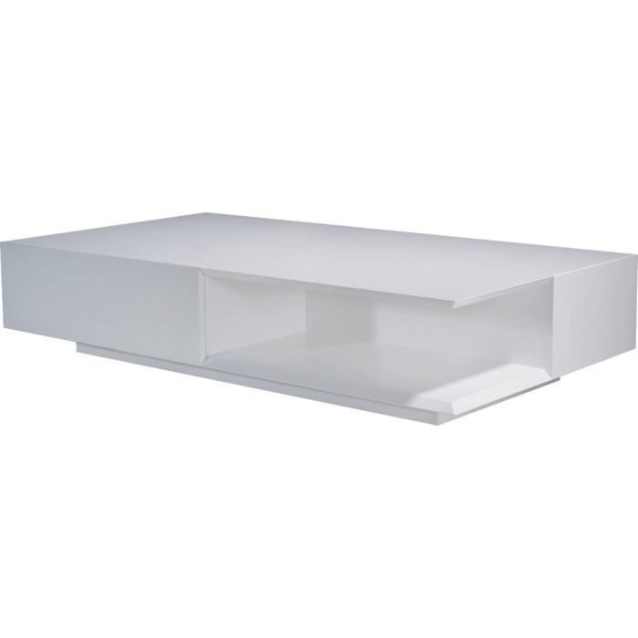 Meuble style designstructure mdffinition laque - Table basse rectangulaire design ...