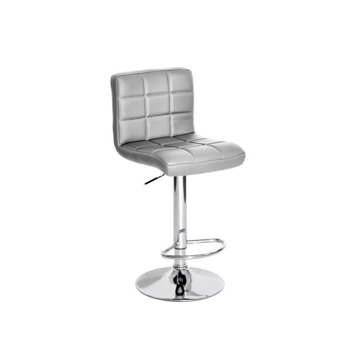 milow tabouret de bar argent achat vente tabouret gris les soldes sur cdiscount cdiscount. Black Bedroom Furniture Sets. Home Design Ideas