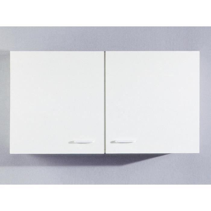 Meuble Haut De Cuisine Tupi 100 Cm Blanc Achat Vente Elements