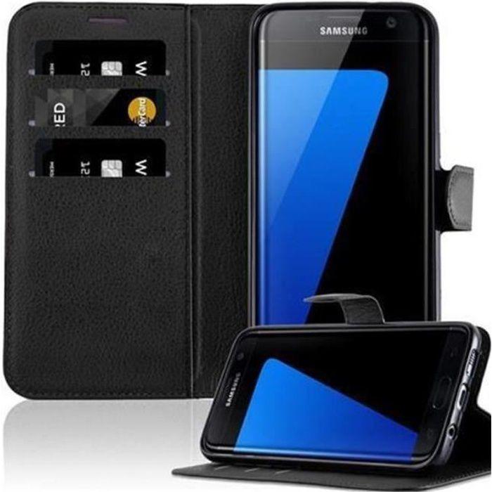 Cadorabo Coque Samsung Galaxy S7 EDGE NOIR Housse