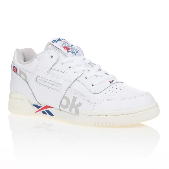 exclusif prix raisonnable reebok workout plus baskets blanc