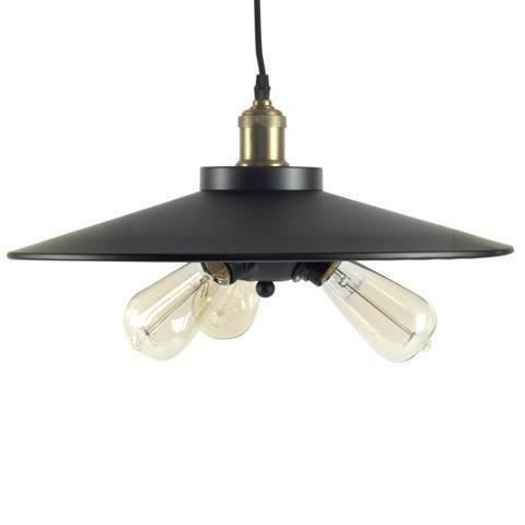 Lustre en suspension retro 3 ampoules 45 cm achat for Suspension 4 ampoules
