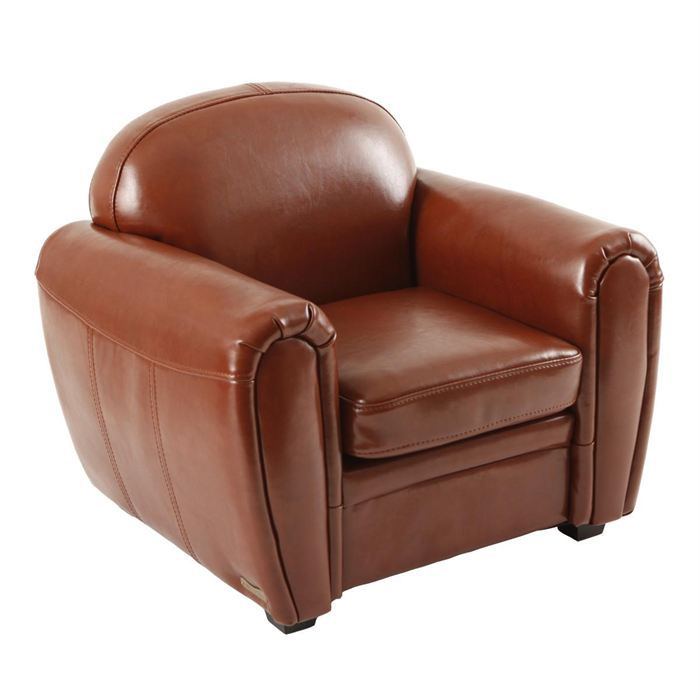 fauteuil club enfant cuir marron clair baby club achat vente fauteuil cuir polyur thane. Black Bedroom Furniture Sets. Home Design Ideas