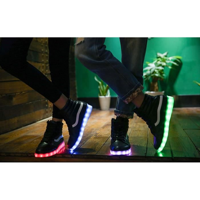 LED rechargeable Sneaker Light-Up chaussures de...