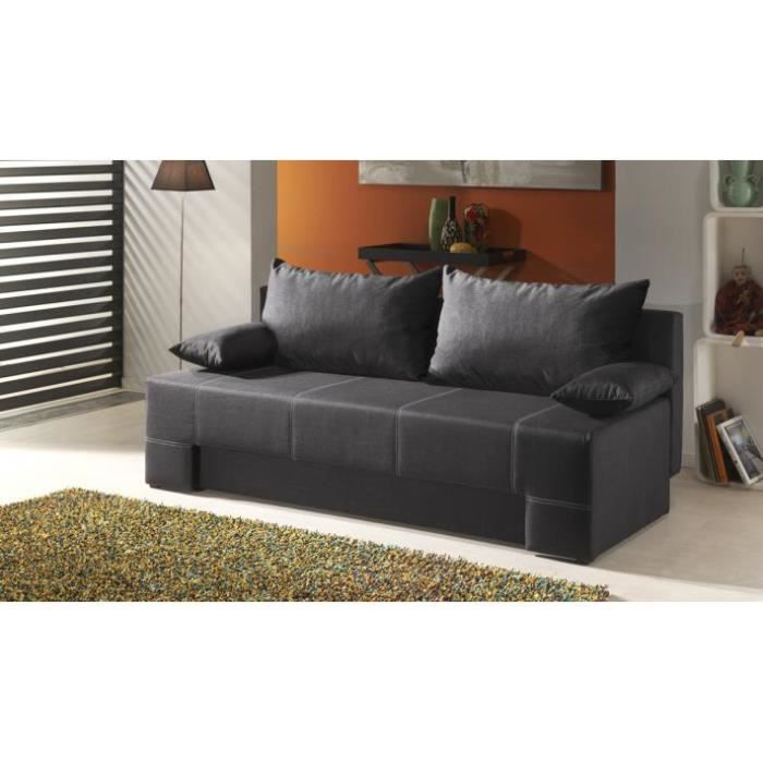 canap convertible morgano achat vente canap sofa divan cdiscount. Black Bedroom Furniture Sets. Home Design Ideas