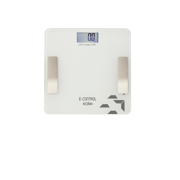 PÈSE-PERSONNE SOLAC S99002000 Pèse-personne E-Control connectée