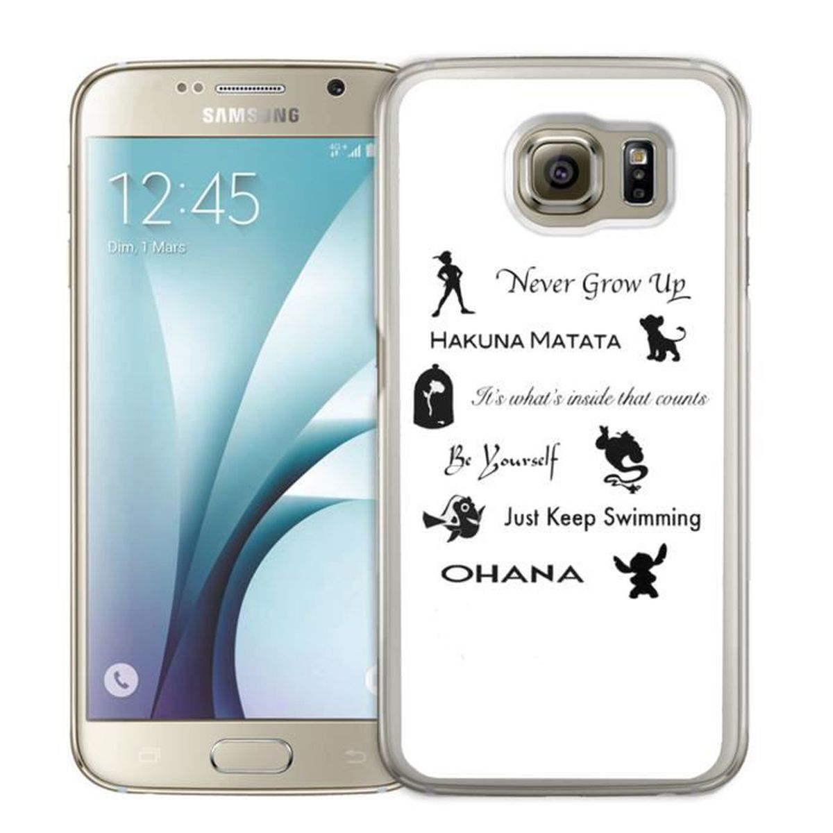 coque samsung galaxy s7 edge citation disney achat. Black Bedroom Furniture Sets. Home Design Ideas