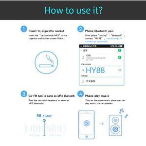 LECTEUR MP3 Bluetooth sans fil allume-cigare transmetteur FM d