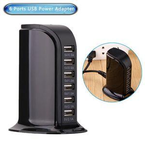 CHARGEUR TÉLÉPHONE Chargeur USB 30W Secteur Rapide avec 6 ports Hub U