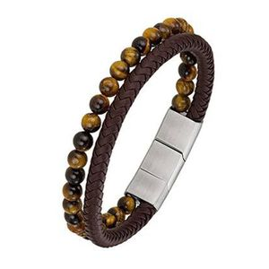 BRACELET - GOURMETTE All Blacks - Bracelet Homme - 682154 - Cuir Marron
