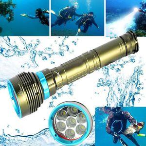 LAMPE DE POCHE Sous-marin 200m 20000LM 7x XM-L2 LED lampe de poch