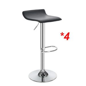 tabouret de bar pivotant reglable en hauteur noir achat vente tabouret de bar pivotant. Black Bedroom Furniture Sets. Home Design Ideas