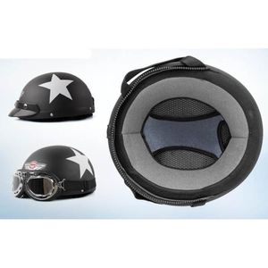 casque bol moto vintage lunette aviateur achat vente casque moto scooter casque bol. Black Bedroom Furniture Sets. Home Design Ideas